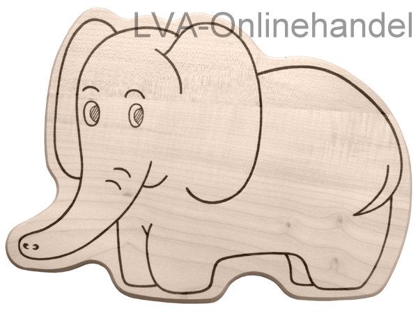 fr hst cksbrettchen aus holz in motivform elefant lva. Black Bedroom Furniture Sets. Home Design Ideas
